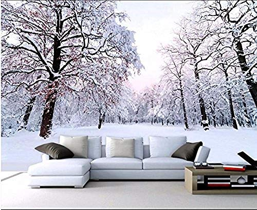 FSKJBZ Moderne Individuelle Fototapeten Dekoration Tapete Bwautiful Winter Schneelandschaft 3D Wallpaper @ 400 cm x 280 cm