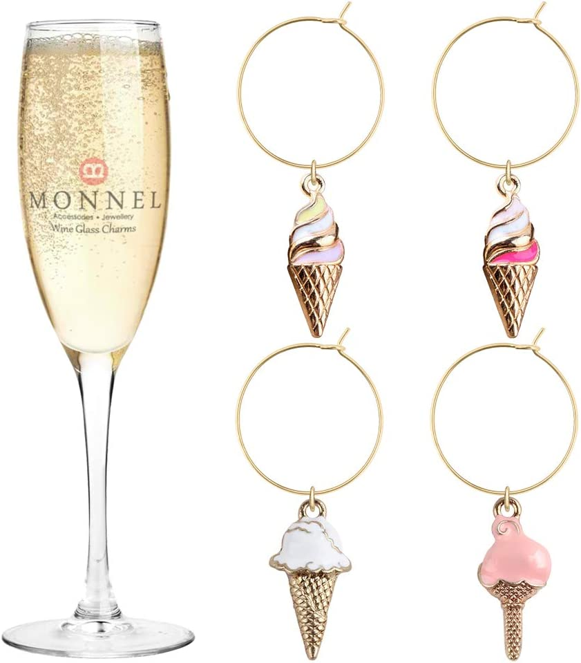 P445 Ranking TOP1 Assorted Ice-cream Wine Charms Party half for Marker with Glass