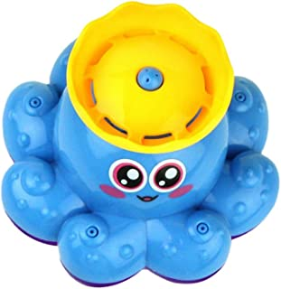 NUOLUX Bath Toy Spray Water Octopus Toys Floating Rotate Bathtub Shower Pool Bathroom Toy Water Pump Electronic Sprayer Fo...