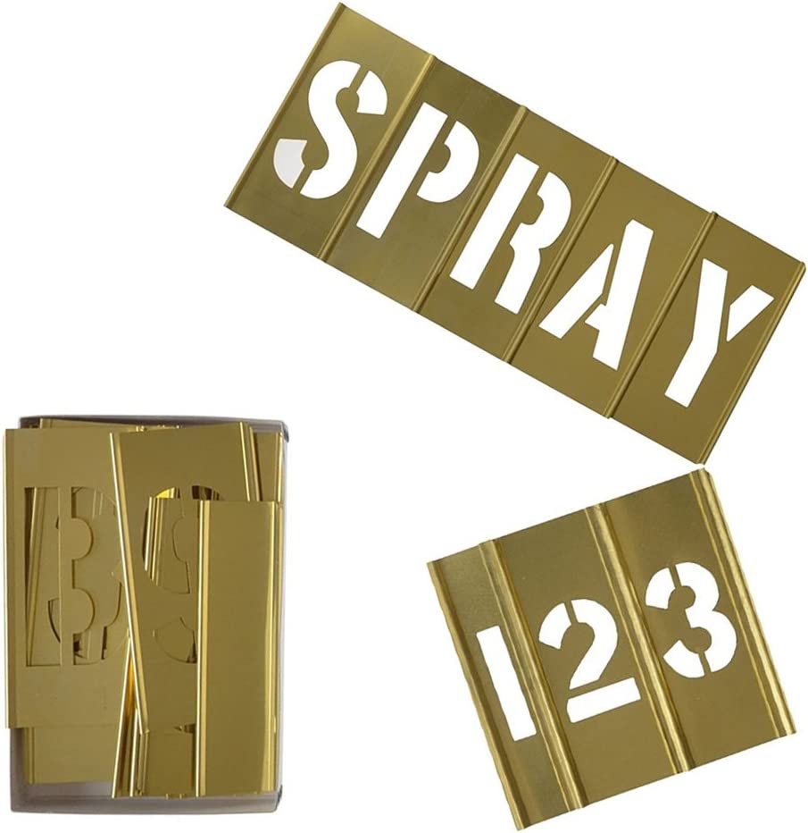 Deezio Brass Stencils Letters Chicago Mall and Sales for sale Interlocking 2 Inch Le Numbers