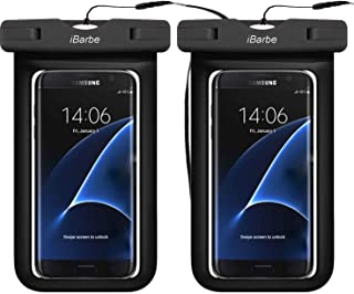 2 Pack Universal Waterproof Case, Cellphone Dry Bag Pouch Compatible with iPhone X XS MAX,8,7,6S,6,6S Plus,SE,5S,Galaxy s9,s8,S7,S6 Edge Note 7 5, HTC LG Sony Motorola up to 6