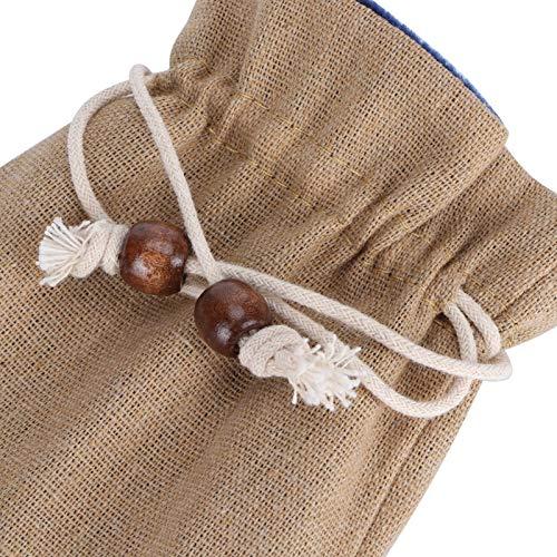 FOLOSAFENAR Bolsa de joyería, 10 Piezas de Material Suave con cordón para Playa Rural y Bodas al Aire Libre