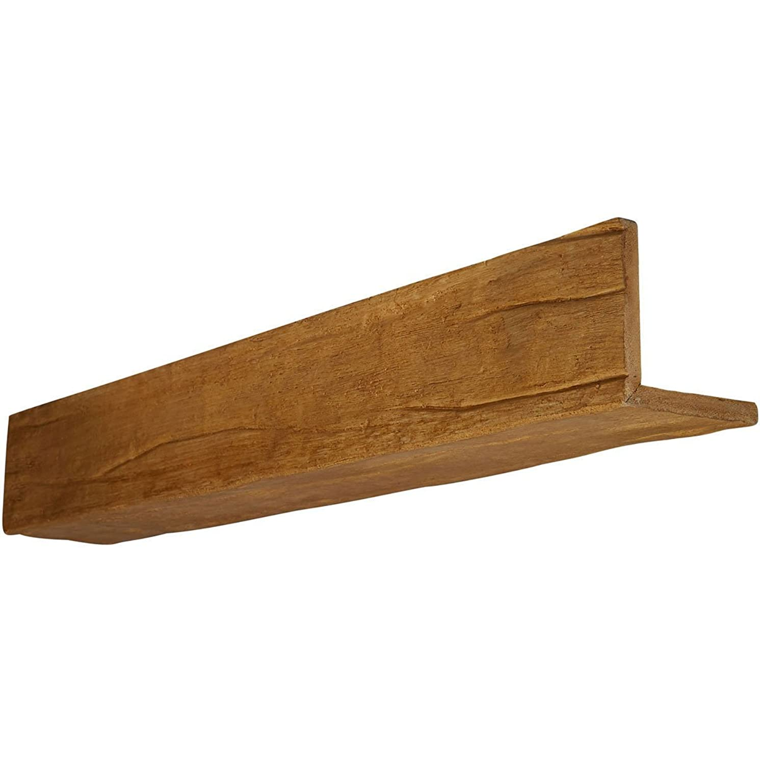 Ekena Millwork BMRW2C0080X040X120PP 2-Sided (L-Beam) Riverwood Faux Wood Beam, Puritan Pine, 8
