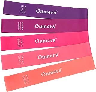 Oumers Ensemble de Bandes de r/ésistance de 5 Bandes dexercice Fitness Bands Perfect for Home Fitness Gym Workouts