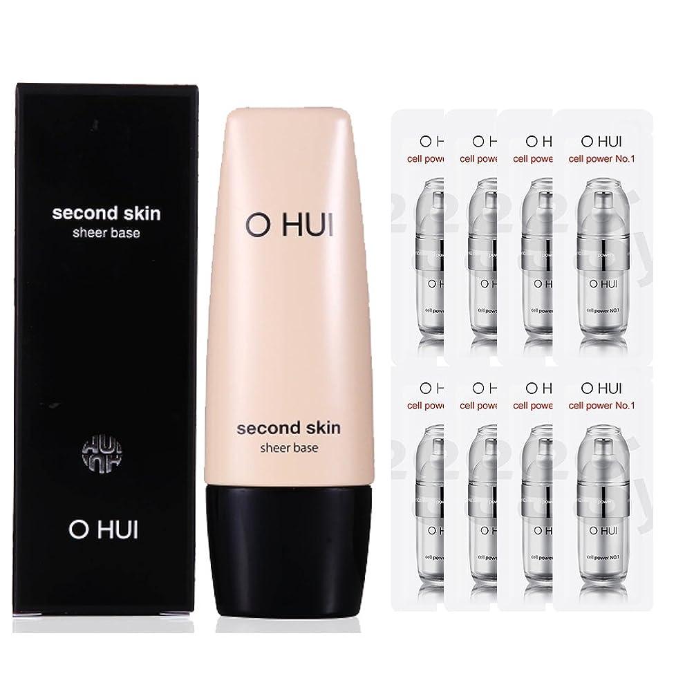謙虚記念日バラ色OHUI/オフィセカンドスキン シアーベース + 特別の構成 (OHUI SECOND SKIN SHEER BASE Makeup Base +Special Gift set)]【スポットセール】[海外直送品]
