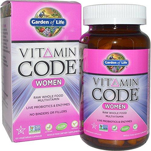 Vitamin Code - Women- Raw Whole Food Multivitamin (120 Vegetarian Capsules) - Garden of Life