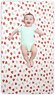 Volwco Fitted Crib Sheet - Natural Cotton Jersey Knit Fitted Portable/Mini-Crib Shee, Premium Cotton Toddler Bed Sheets - Fits Standard Crib Mattress