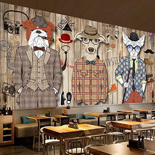 RQWBH zelfklevend behang 3D-muurschilderingen (B) 300 x (H) 210 cm Stereo Europese bus Street View kinderkamer behang en meisjes kamerdecoratie slaapkamer kunstenaar woonkamer 450x300 cm (BxH) 9 Streifen - selbstklebend