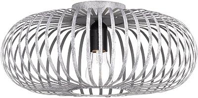 TRIO, Plafonnier, Johann 1xE27, max.60,0 W Corps: metal, gris ancien Ø:40,0cm, H:17,0cm IP20