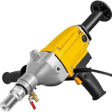5 130mm Happybuy Diamond Core Drilling Machine 5 Inch 130 mm Handheld Diamond Core Drill Rig Variable Speed Wet Dry Core Drill Rig Concrete Coring Drill Machine for Diamond Concrete Drilling Boring