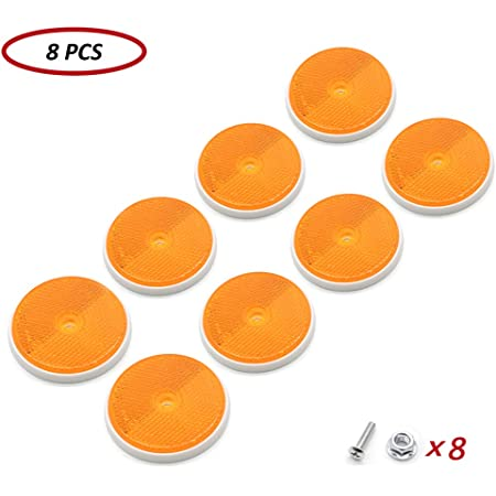 Round Reflectors for Gate Posts TAEUTO 10 x Trailer Red Round Reflectors Red for RV Truck Tractor Trailer Red Reflectors Round Red Reflectors Screw Fixing Mount Reflectors for Posts