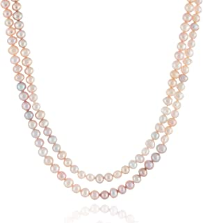 Handpicked A Quality 6-7mm Black Keshi Cultured Pearl Strand Endless 64 Necklace