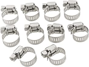 10 Pcs 9mm-16mm Adjustable Stainless Steel Worm Drive Hose Clamp