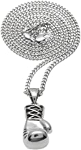 AOVR Hot Hip Hop Cuban Link Chain 14k Gold Silver Plated CZ Crystal Bling Bling Fully Iced-Out Pendant