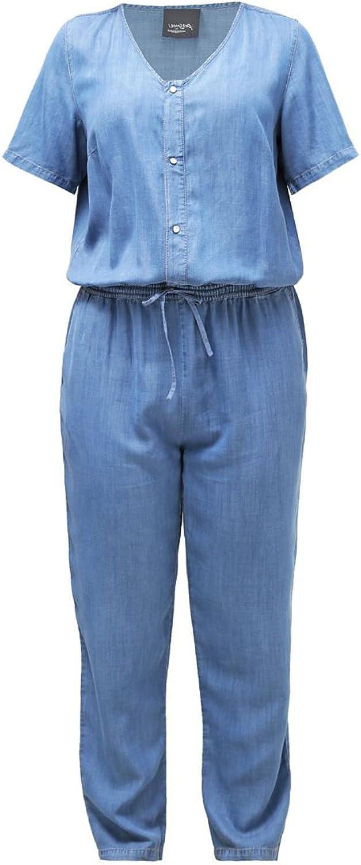 Marina Rinaldi Women's Farina Short Sleeve Jumpsuit bluee