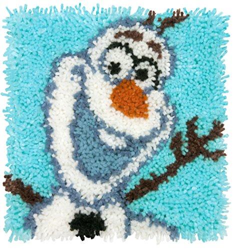 Dimensions Disney Frozen Olaf Latch Hook Craft Kit for Kids, 12'' x 12''