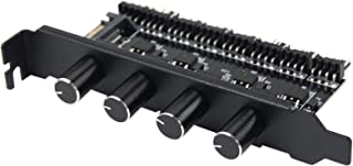 Czhxtqz Pc 8 Channels Fan Hub 4 Knob Cooling Fan Speed Controller for CPU Case HDD Vga Pwm Fan Pci Bracket Power by 12V Fa...