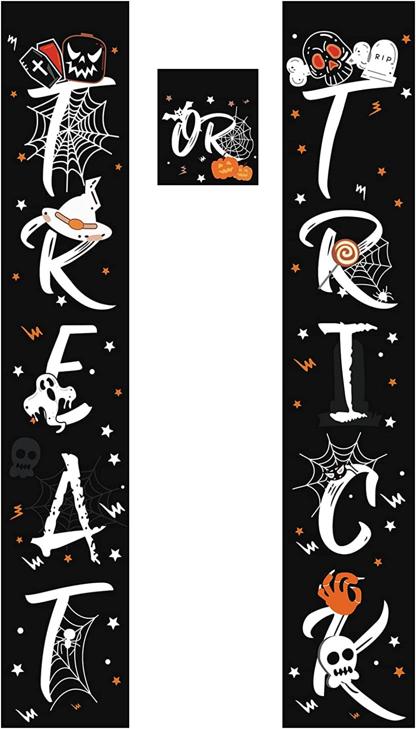 YQRDSHJS Halloween Funny Banner Regular store Max 73% OFF Hanging Porch Decorations Treat