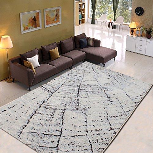 Creative Light Modern Minimalist Abstrait Tapis Rectangle Polypropylène Imitation Laine Bureau Bureau Table Basse Salon Carpet (Taille : 120cm*170cm)