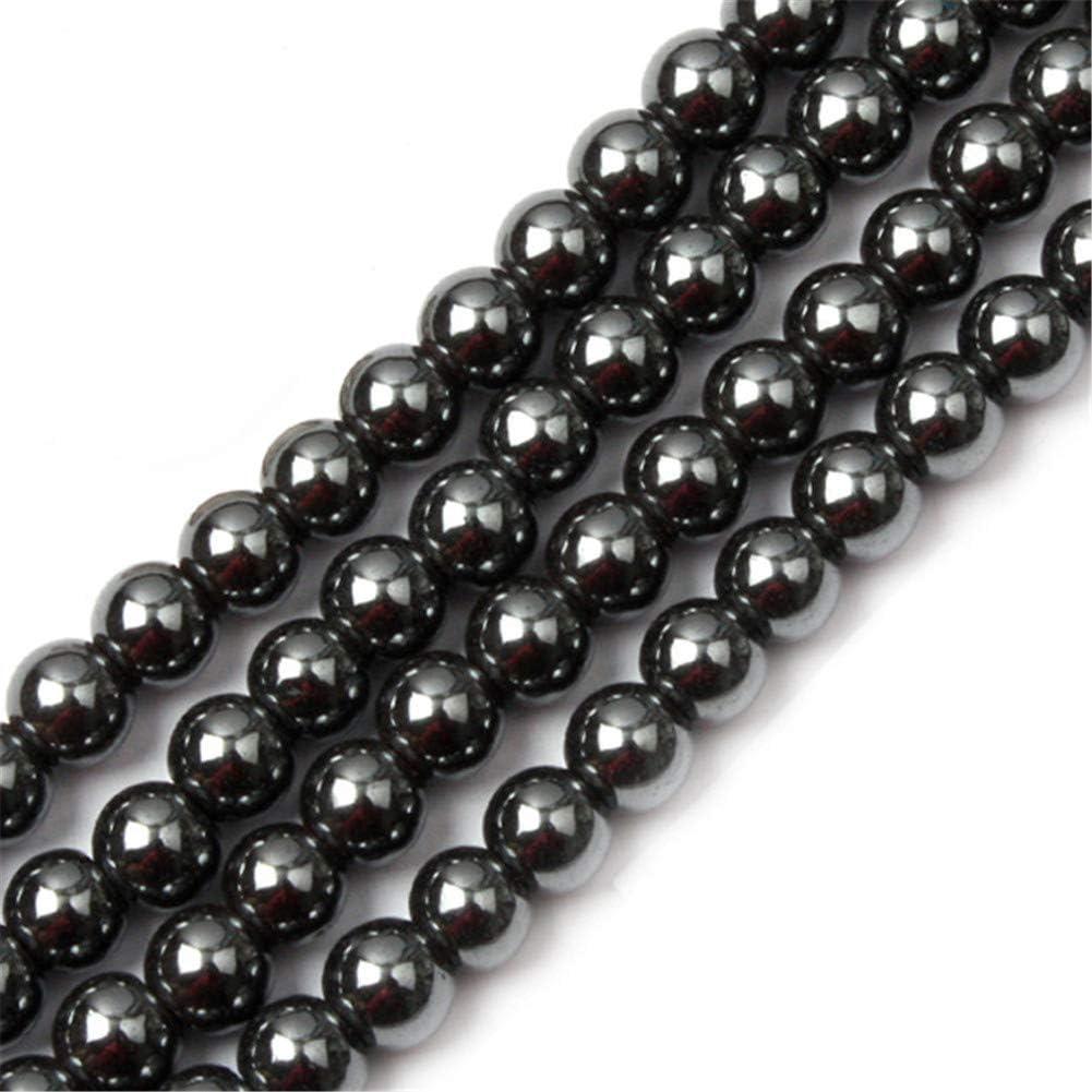"""Natural Black Hematite Round Ball Beads For Jewelry Making 15/"""" 2mm-16mm DIY"""