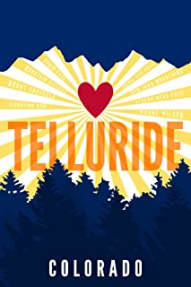 Telluride, Colorado - Heart and Mountains (12x18 Fine Art Print, Home Wall Decor Artwork Poster)