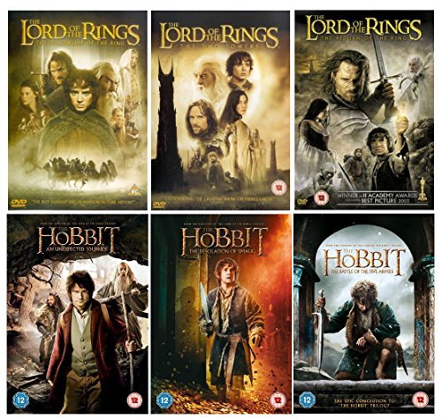 Complete The Lord of the Rings Trilogy 1-3 + Complete The Hobbit Trilogy 1-3 movie collection