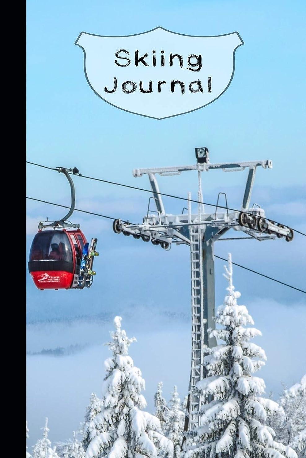 クモ強制異邦人Skiing Journal: The compact journaling notebook for keeping track of all your snow adventures and ski activity - Ski gondola