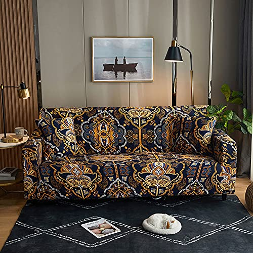 Fundas de sofa seccional elásticas para 1 2 3 4 asientos,fundas de sofa en L para sala de estar,Funda de sofá en forma de L para perros mascotas niños,estampadas protector de muebles,negro (Color: