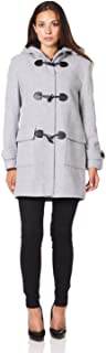 De La Creme Women`s Wool & Cashmere Winter Hooded Duffle Coat
