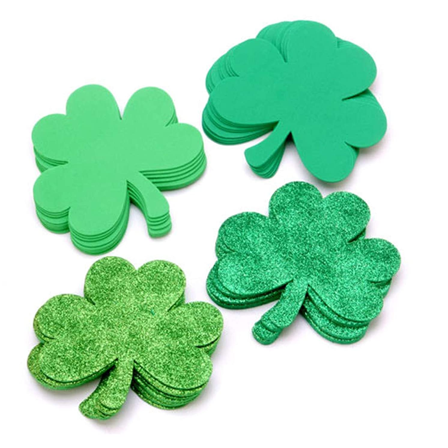 36 Piece Set of 5.5 inch Foam Shamrocks for Saint Patrick's Day Crafts Projects