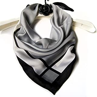 WJTWJSD Women's Scarves Small Squares Spring and Autumn Wild Scarf Scarves (Color : Gray)