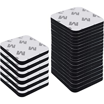 """60PCS Black Double Sided Foam Tape Strong Pad 1.58"""" Diameter Self-Adhesive Mounting Suitable for Surface, Thickness and Smooth, Wood, Metals, Glass, Papers, Paints, Plastics and Fabrics(L, Square)"""