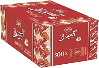 Lotus Biscoff - European Biscuit Cookies - 0.2 Ounce (300 Count) - Individually Wrapped - non GMO Project Verified + Vegan
