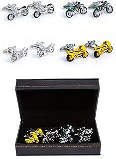 MRCUFF Motorcycles 4 Pairs Cufflinks in a Presentation Gift Box & Polishing Cloth