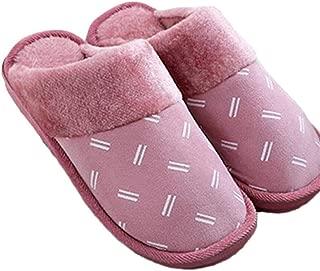 Cotton Slippers Women Home Interior Men's Home Cotton Drag Men Autumn Plush Warm Non-Slip Cotton Shoes Warmer Soft Plush Home Shoes (Color : Purple, Size : 40-41)