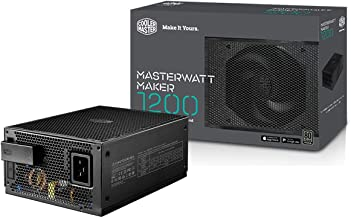 Cooler Master MasterWatt Maker 1200 Plus, Full Modular 80 Plus Titanium, 1200W Digital Power Supply