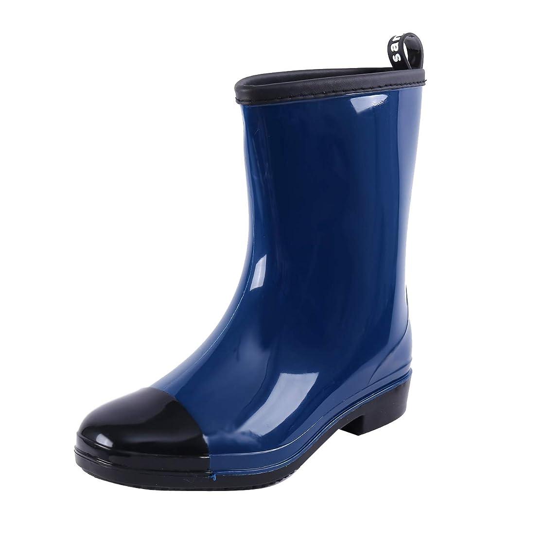ハードリングラメ好きである[Fineme] レディース レインブーツ 長靴 レインシューズ おしゃれ ミドル丈 軽量 滑り止め 晴雨兼用 ブーツ 通勤 通学 梅雨対策 婦人ゴム長靴 雨靴