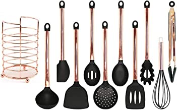 Cooking Utensils Cooking Tool Kitchen Utensils Set Rose Gold Stainless Steel Handle Silicone Nonstick Pan Kitchen Tools (C...