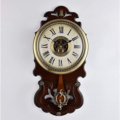 YHEGV Wall Clock in Nordic Wood, Hours Lounge More Easy to give The Alarm Clocks
