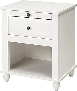 IKEA Hornsund Nightstand, White Stained