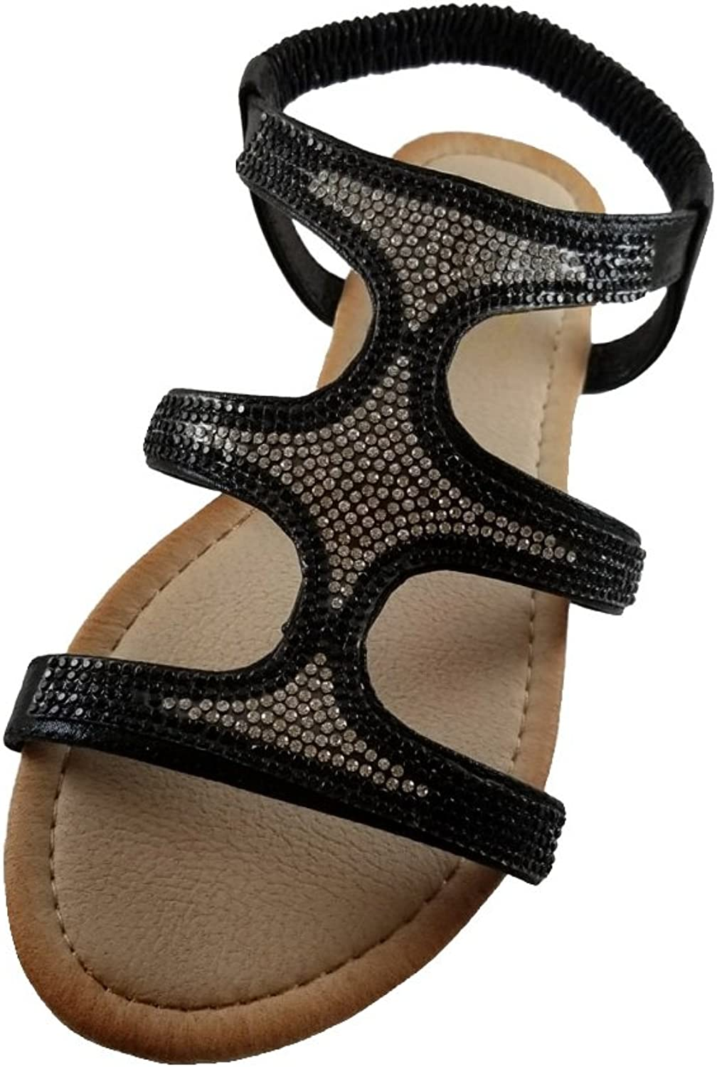 Women's Sparkling Roman Gladiator Sandals, Great for Summer Beach or Casual Everyday