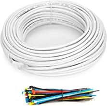 150 Feet - White - Snagless Cat6 Ethernet Patch Cable by Aurum Cables with Cable Ties and Clips
