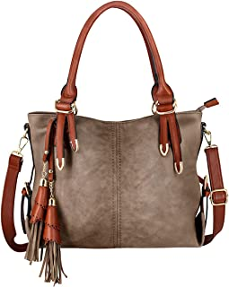 Handbags for Women Tote Shoulder Bags Hobo Fashion Ladies PU Leather Large Bags