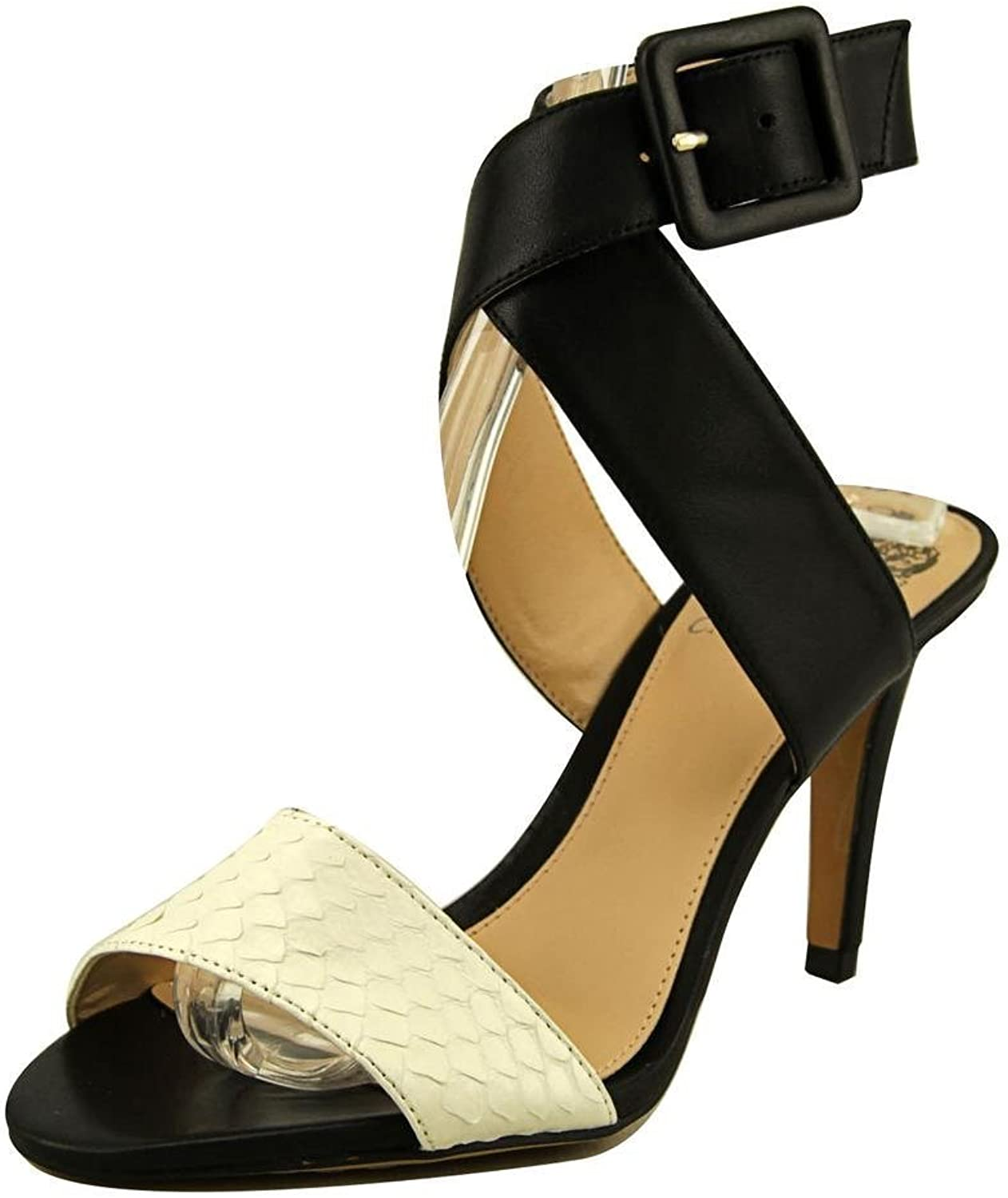 Vince Camuto Casara Women US 10 Black Open Toe Sandals