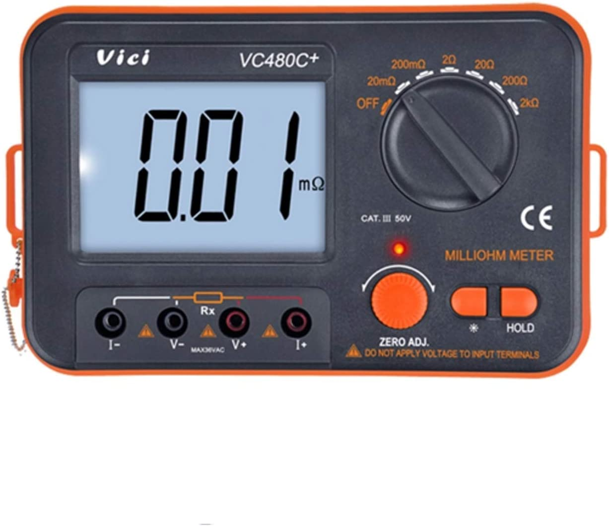 ZKS-KS Digital millioh Meter 3 Max 50% OFF 1 2 Clearance SALE! Limited time! Backligh 4 with LCD Test Wire