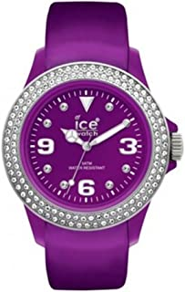 Ice Watch Unisex-Adult Quartz Watch, Analog Display and Leather Strap STPSUL10
