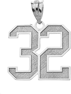 sports number pendants for necklaces