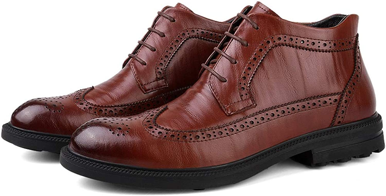 dc73402120c XUJW-SHOES, . Men's Classic Carved With Cotton In Winter Brogue High Top  Boot