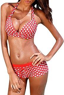 comprar comparacion Overdose Bikinis Mujer 2019 Push up Lunares Mujeres Tankini Traje de baño Bikini Ropa de Playa Traje de baño Pantalon Ropa...