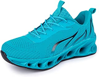 SONGJOY Hardloopschoenen heren fitness straatloopschoenen outdoor gym lichtgewicht schoenen ademend veters traillop sports...